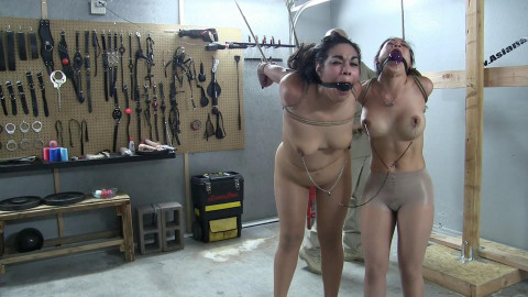 Asiana Starr And Mizuna Kitten In A Two-girl Bondage