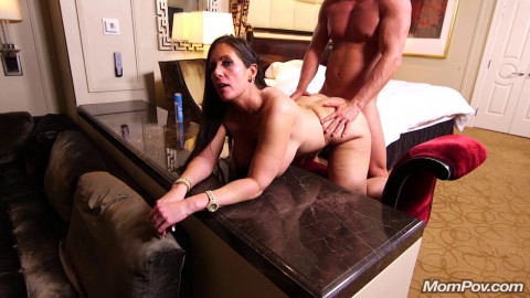 Eager MILF can't wait to get MomPov'd