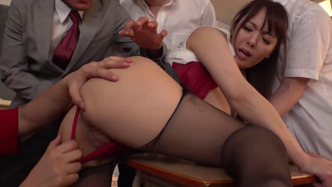 Massive Tits Teacher Gangbanged By Students