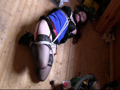 Curvy girl  into a shed and tied up to be sold off Alexia