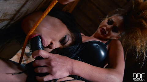 Hard bondage, spanking and torture for very hot girls part 1