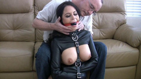 Super bondage and domination for very horny hot brunette