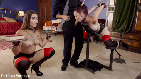 Afternoon Delight: Twin Set of Sex Slaves Well Used