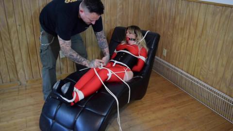 Lisa Scott.. Red Spandex Captive Part 2