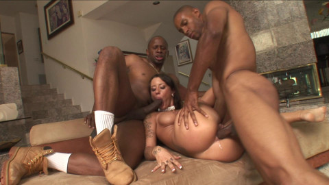 Mya Nichole plays with couple of BBCs