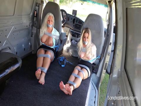 Captive Ladyboss and Secretary Taped