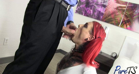 Mature TS Sadie Pleases Her Master