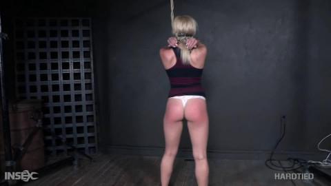 Bondage, strappado, hog tie and punishment for blond part 1 HD 1080p
