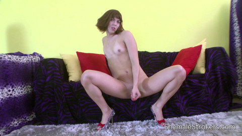 Erotic T-Girl Squirts a Hot Sticky Load for You to Enjoy!(2014)