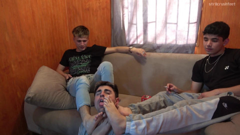 Call us Kings Feet buffet 3 Sexy str8 chaps treated as they merit no one