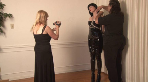 Boots and Shiny in Bondage - Ikaras ties Mary Jane