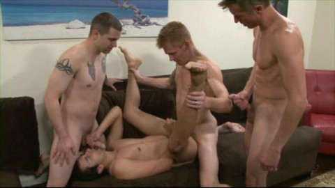 Young Guys In Barebacking Orgies