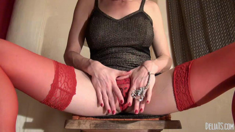 Scorpion ring & red stockings