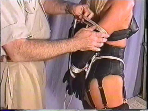 Devonshire Productions-Aside from being bound in ropes, shes also blindfolded