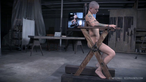 Metal Bondage For Complete Sexual Slave