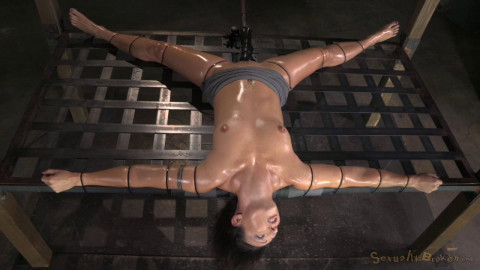 Fit MILF Wenona strictly restrained and does epic brutal drooling deepthroat on BBC, cums hard!