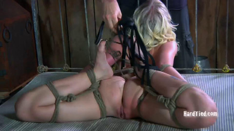 Bondage, spanking and pain for exposed blond part 1