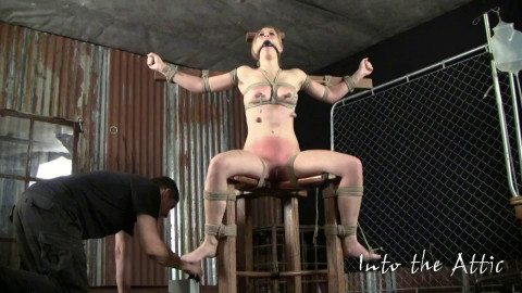 Super tying, spanking and torment for hawt bare golden-haired part ASS TO MOUTH