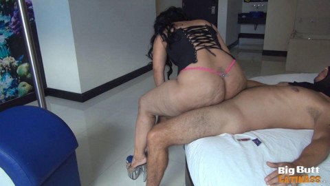 monster butt latina milf in mask fucked in the hotel