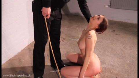 Taut restraint bondage, strappado and spanking for in natures garb slavegirl