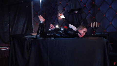 Bdsm Most Popular Big rough session for Alla in catsuit