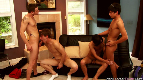 Next Door Twinks - Joey, Noah, Jay and Landon