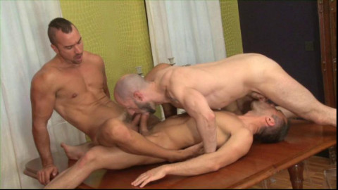 Sexy Men Gangbang At City