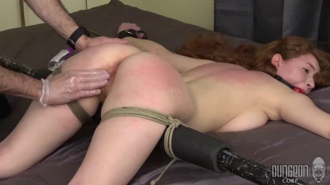 Tight restraint bondage, spanking and suffering for nice-looking model part1 HD 1080p