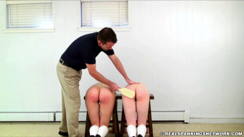 Roxie and Syrena Witnessed Spanking