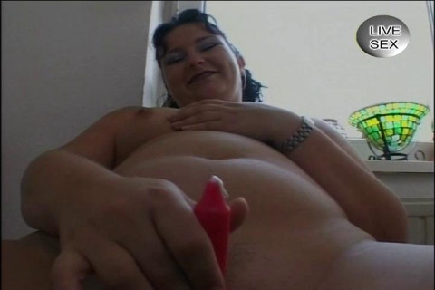 Shaved pussy pleasuring