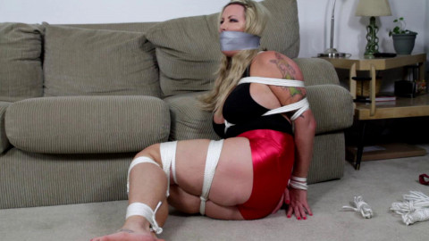 She winds up bound and gagged