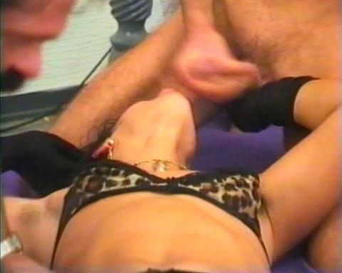 Men fisting a whore