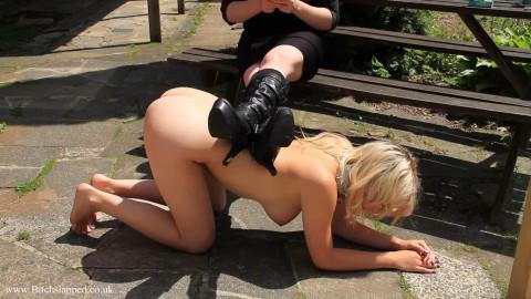 Super restraint bondage, spanking and domination for concupiscent blond part3 HD 1080p