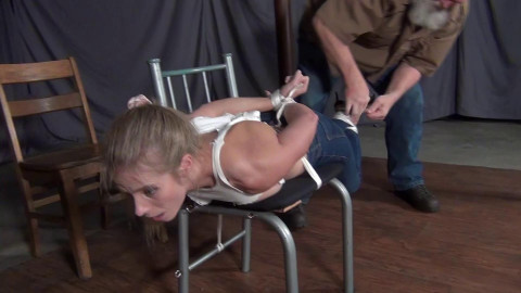 Claire Irons: Tied to a Chair with a Twist
