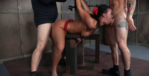 London Struggles In Bondage While Being Fucked
