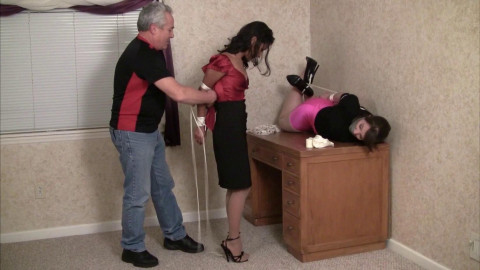 Drea Morgan And Elizabeth Andrews Entertaining The Visiting Boss (2015)