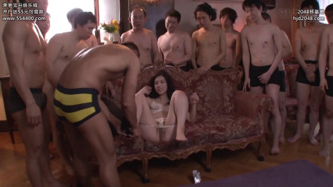Iori Kogawa - Nonstop Bukkake Orgy Action with 25 Cocks