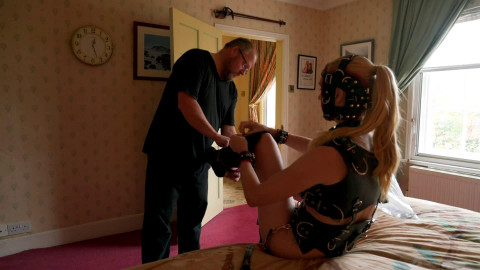 Bondage, spanking and domination for blond submissive part 4 Full HD 1080p