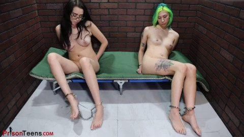 Super restraint bondage and domination for 2 hot slavegirls