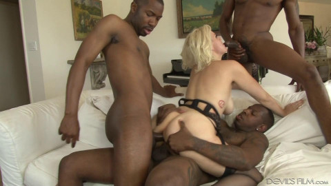 Blacked Out Orgy For Blond Slut Jenna Ivory