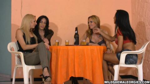 Before SheBabe Sex Binge [Wild Shemale Orgies]