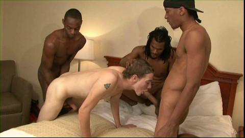 Sexy White Slut Gangbanged By Seven Black Males