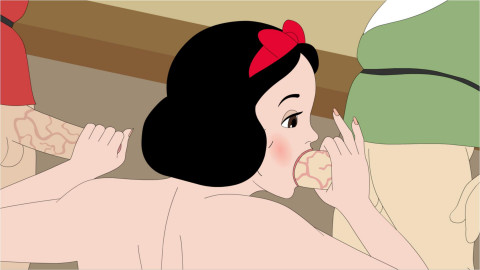 Snow White and the Dwarves orgy Full HD