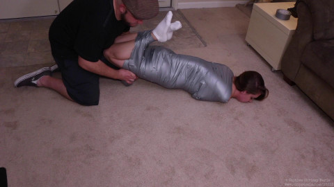 CaptiveChrissy - Hellishly Hogtied Wrapping