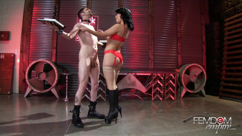 Kristina's Cruel Ballbusting Game Starring Mistress Kristina Rose