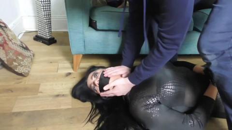 Super restraint bondage, hog tie and domination for 2 hawt gals HD 1080p