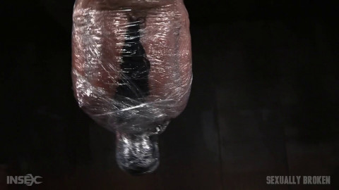 Tough London River Mummified In Plastic Wrap And Facefucked