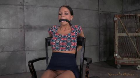 Tiny girl fucks and sucks two hard cocks