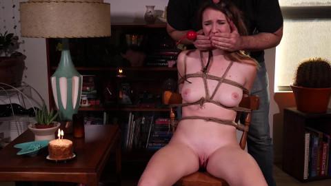 Bondage, domination, torture and hogtie for horny hot model