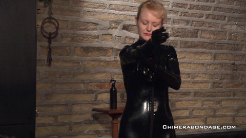 Anita De Bauch - Naked Soles Latex Catsuit Bondage
